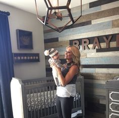 Kady Bee Boutique | Rustic baby boy baseball nursery