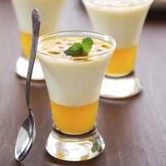 panna cotta mangue légère