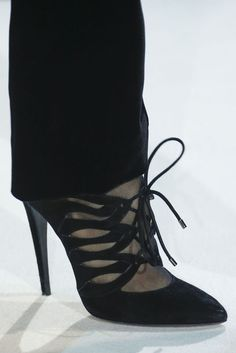 bc691ea46a Giorgio Armani Black Lace-Up Sandal Fall Winter 2013 #Shoes #Heels #Trend