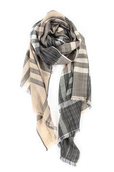 Syn Og Thuula - Kasjmir skjerf med sjakk vevet mønster Cashmere, Neutral, Plaid, My Style, Fashion, Gingham, Moda, Cashmere Wool, Fashion Styles
