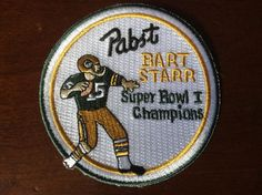 ThrowBack super bowl 1 50 years  commerative pabst beer,GREEN BAY PACKERS PATCH, #GreenBayPackers