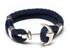 a744ac6f86ec Our anchor bracelet is essential for any nautical lover! -Hand dyed navy  blue cotton