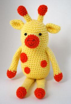 A crochet giraf, en virkad giraff som heter Ralf