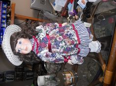 Vintage doll Becka 20 inches with stand gorgeous hair by EMTWTT, $45.00