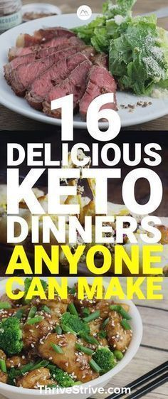 Looking for keto dinners that you can easily prepare? Here are 16 awesome low ca.Looking for keto dinners that you can easily prepare? Here are 16 awesome low carb dinners to help you stay on track with the ketogenic diet. Ketogenic Recipes, Paleo Recipes, Low Carb Recipes, Keto Foods, Paleo Diet, Ketogenic Diet For Diabetes, Eat Clean Recipes, Clean Foods, Ketosis Diet