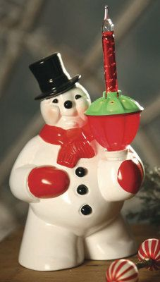 This is a copy of the original snowman light that many of us baby boomers had in our homes in the 50's.