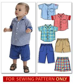 9ae02bc3e Details about SEWING PATTERN! MAKE SHIRT~SHORTS~PANTS! BABY~TODDLER BOY  CLOTHES~SIZE 13~29 LBS