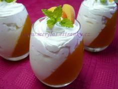 Vaření s Merylas - Zmrzliny, sorbety a různé poháry. - Různé poháry - Šikmé poháry z džusu a pudinkového krému