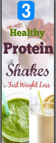 Healthy Protein Shake Recipes to Lose Weight and Belly Fat Fast.Boost calorie burn and metabolism with these healthy protein shake for weight loss and flat stomach. These homemade protein shakes will help you stay fuller all day Protein Smoothies, Smoothies Healthy Weightloss, Smoothie Proteine, Healthy Drinks, Healthy Juices, Diet Drinks, Homemade Protein Shakes, Healthy Protein Shakes, Protein Shake Recipes