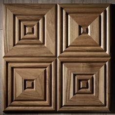 Wall panels, inspired by Italian coffered ceiling