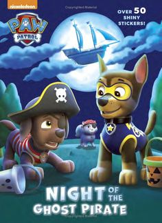 Night of the Ghost Pirate (Paw Patrol) (Hologramatic Sticker Book): Golden Books, Nate Lovett: 9780553523904: Amazon.com: Books