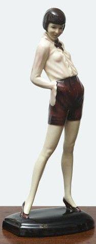 Goldscheider flapper girl 1920's (please follow minkshmink on pinterest)