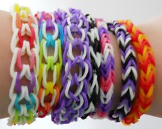 Rainbow Loom DIY bracelets ...how have I not heard about these before now?!