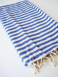 Turkish BATH Towel Peshtemal - Blue