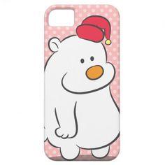 Lazy looking but cute polar bear iPhone 5 case