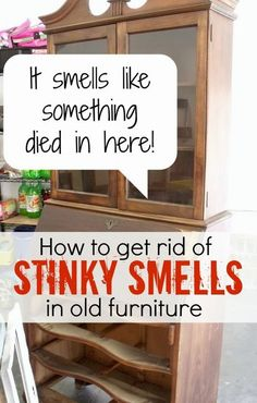 Diy Projects: How To Get Gross Smells Out of Old Furniture