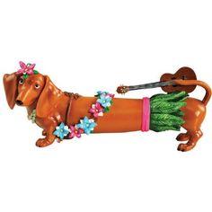 Aloha Hot Diggity Dog Figurine Westland Giftware New Hawaii Hula Dachshund 17937 Dachshund Art, Daschund, Animals And Pets, Cute Animals, Crusoe The Celebrity Dachshund, Westland Giftware, Dog Art, Yorkie, Animals Beautiful
