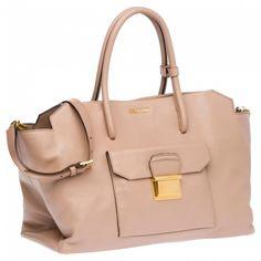 Handbag squadrata cipria MiuMiu