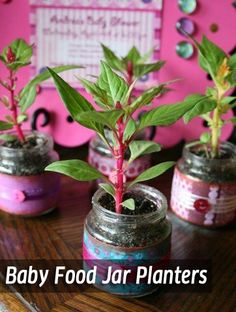 Mother's Day Crafts 2013 | Baby Food Jar Planters