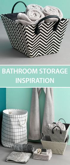 Bathroom storage inspiration with canvas baskets from JYSK. Opt for an easy and affordable storage range with this minimalist bathroom style. Bathroom Styling, Bathroom Interior Design, Bathroom Storage, Small Bathroom, Hanging Storage, Diy Storage, Storage Boxes, Tidy Room, Affordable Storage