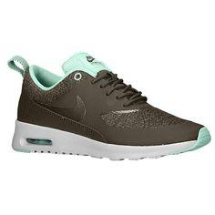 Nike Air Max Thea - Women's - Running - Shoes - Cargo Khaki/Light Ash Grey/Medium Mint/Iron Green
