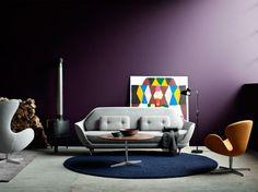 FAVN Sofa, Egg Chair, Swan, Table Series e Kaiser Idell Lamp