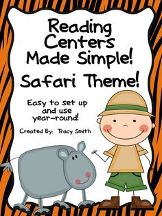 Reading Centers Made Simple - Safari Edition! Super fast and easy to set up for the whole year through!