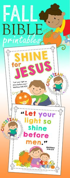 Halloween Bible Printables for Outreach Ministry. Shine for Jesus, Let Your Light Shine Before Men, Pumpkin Prayer, Parable, Tracts Preschool Bible, Bible Activities, Preschool Lessons, Church Activities, Preschool Activities, Preschool Classroom, Sunday School Activities, Sunday School Lessons, Sunday School Crafts
