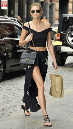 Karlie Kloss Shows Us How to Wear All Black in the Summer from #InStyle