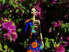 Frida Kahlo Catrina with flowers | Flickr: Intercambio de fotos