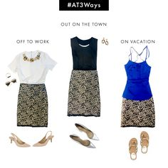 Abstract Lace Skirt 3 Ways #AT3Ways