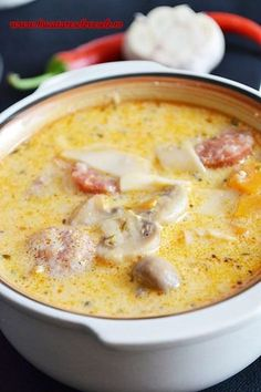 Soup from Ardeal, Romania Healthy Diners, Romania Food, Soup Recipes, Cooking Recipes, Hungarian Recipes, Recipes From Heaven, Paella, My Favorite Food, I Foods