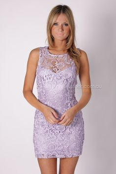 eclipse lace cocktail dress - lilac