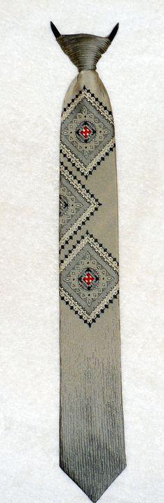 1980's VINTAGE CLIP ON Tie  Light Silky Olive with by BYGONERA, $10.00 @ETSYCIJ #ETSYCIJ