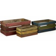 Cute crates. Love the staining. Gives it a good variety.