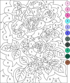 nicoles free coloring pages color by number - Color By Number Pages For Adults