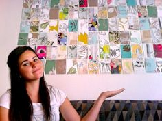 Wall Art Made By Free Anthropologie Wallpaper Samples Can Be Re On Small