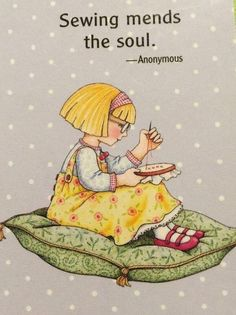 Sewing Mends The Soul Needlework Fridge Art Magnet With Mary Engelbreit Artwork Sewing Art, Sewing Rooms, Sewing Crafts, Sewing Projects, Sewing Patterns, Mary Engelbreit, Quilting Quotes, Couture Vintage, Sewing Quotes