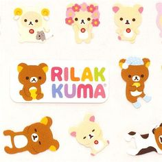 kawaii Rilakkuma bear stickers rabbit France