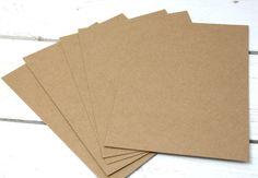 Briefpapier - 25 x Kraftpapier DIN A4 braun 280g/m² blanko - ein Designerstück von einfachschoen-shop bei DaWanda