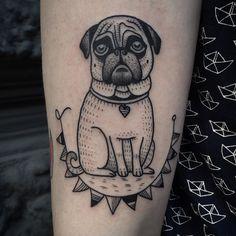Susanne König pug tattoo