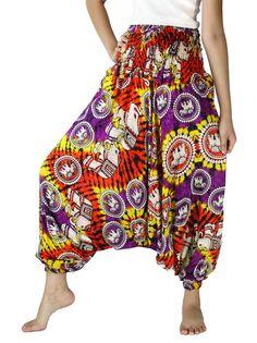 Harem pants Tie dye Rainbow thai Elephant Pants Hippie Pants