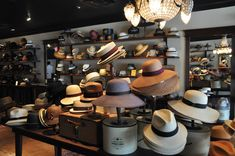 Hat store and women's hat shop. Hat Display, Hat Stores, Senior Home Care, Retail Merchandising, Fitness Gifts, Hat Shop, House Floor Plans, Retail Design, Luxury Living