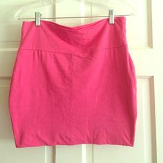 Wet Seal mini skirt Wet Seal Hot Pink Mini Skirt. Size L. 95% cotton, 5% spandex. Never worn. Wet Seal Skirts Mini