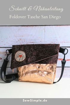 78826e7298899 Schnittmuster und Anleitung für eine einfach zu nähende Foldover Tasche!  Foldover Tasche