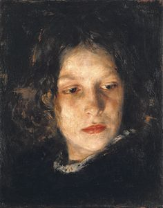 Head of a Girl, Alois Erdtelt. (1851-1911) - Art Curator & Art Adviser. I am targeting the most exceptional art! Catalog @ http://www.BusaccaGallery.com