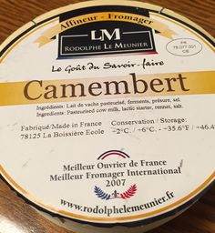 The Wine and Cheese Place: Camembert - from the cheese Rock Star
