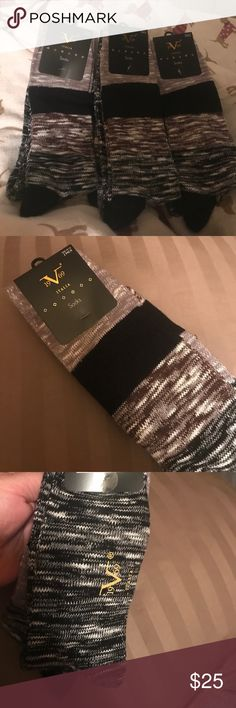 VERSACE!!! 10 pairs men's boot socks size 10-13 Very comfortable material smoke free home 2 different colors in each pack 2pairs in each pack Versace Underwear & Socks Casual Socks