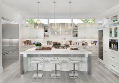 unique grey hardwood floor ideas contemporary kitchen design white cabinets white kitchen island