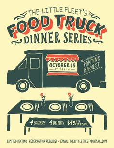 Food Truck Dinner Posters by Jordan Dale Young, via Behance